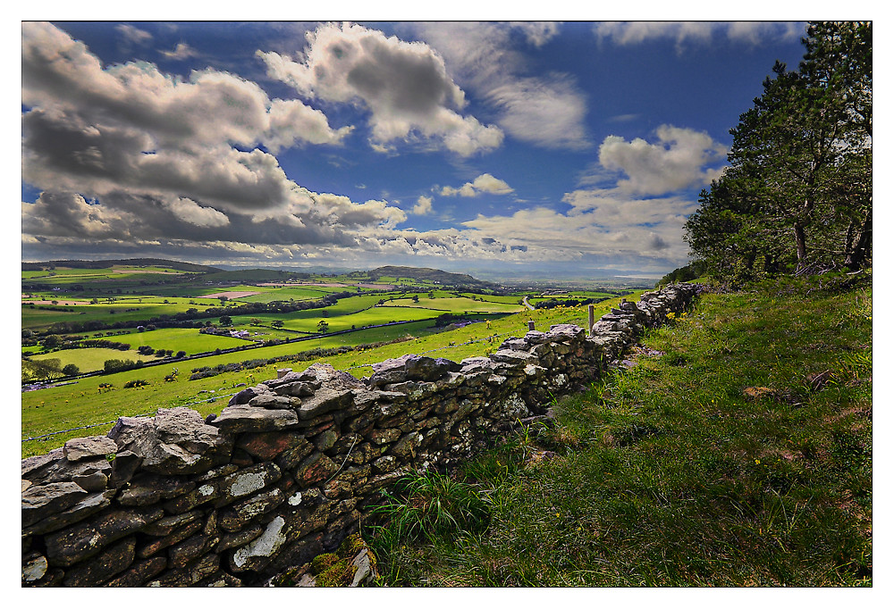 HDR - View of North Wales