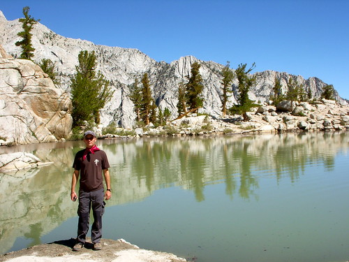 Jason at Lone Pine Lake, Mt Whitney