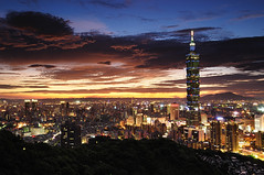 () Tags: sunset night taiwan 101  taipei101            nanmadol mtelephant