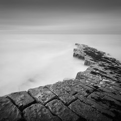 Kilve, Somerset (Weeman76) Tags: uk longexposure sea bw seascape southwest monochrome mono nikon somerset le d90 kilve sigma1020mmf456exdchsm nd110 limestonepavements niksoft silverefexpro2