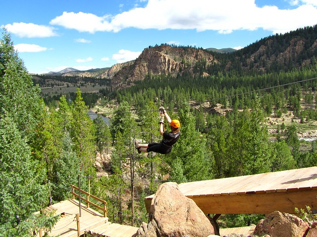 Zip Lining, Arkansas Valley Adventures, Colorado