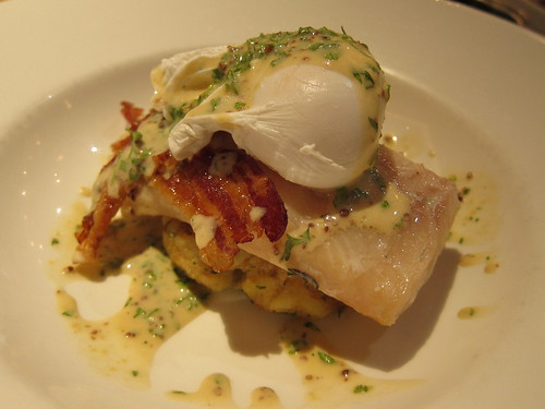 Smoked Haddock with poached Burford Brown and horseradish hash