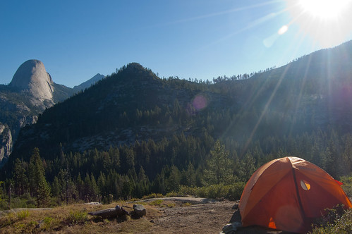 Tent Site, with Half Dome