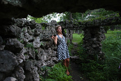 Ashley (rachelbujalski) Tags: fashion model updo frenchtwist checkereddress