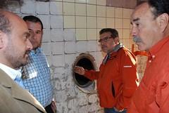 Beder Herrera visitó las obras de refacción de la bodega de Aminga