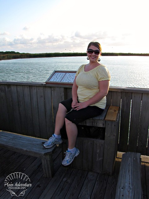 Karen on boardwalk