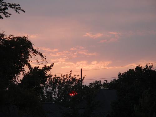 Pink Sky Fireball Sun
