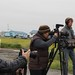 Kelly Matheson, Christi Cooper-Kuhn and Jim Murphy filming with Nelson Kanuk in Kipnuk, Alaska