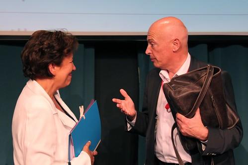 Roselyne Bachelot et Gilles Dauxerre