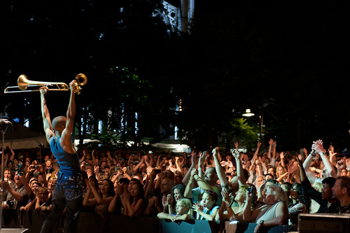 Trombone Shorty and the Bumbershoot audience