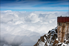aiguille du midi (heavenuphere) Tags: snow france mountains alps clouds alpes landscape climbing alpine chamonix montblanc massif aiguilledumidi hautesavoie rhnealpes chamonixmontblanc tlphriquedelaiguilledumidi