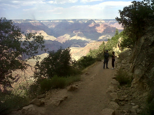 Dad and Holly on the Bright Angel Trail