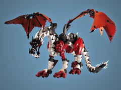 Redfoot Dragon (retinence) Tags: factory dragon lego hero fusion bionicle moc redfoot herofactory