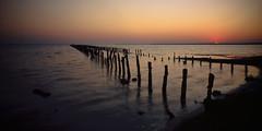Dawn on Sasyk lake (Grey Wind) Tags: film fuji transparency chamonix largeformat velvia50 superangulon 045n2