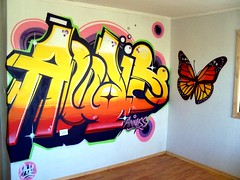 Annaiss (COLOR IMPOSIBLE CREW) Tags: chile graffiti interior mariposa zade quilpue 2011 fros marisopa annaiss