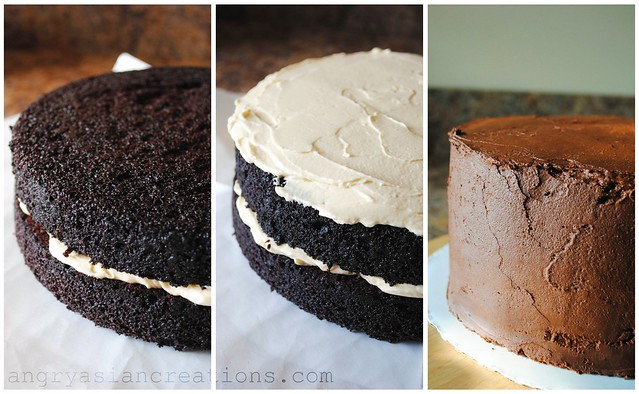 Dairy free salted caramel chocolate fudge cake