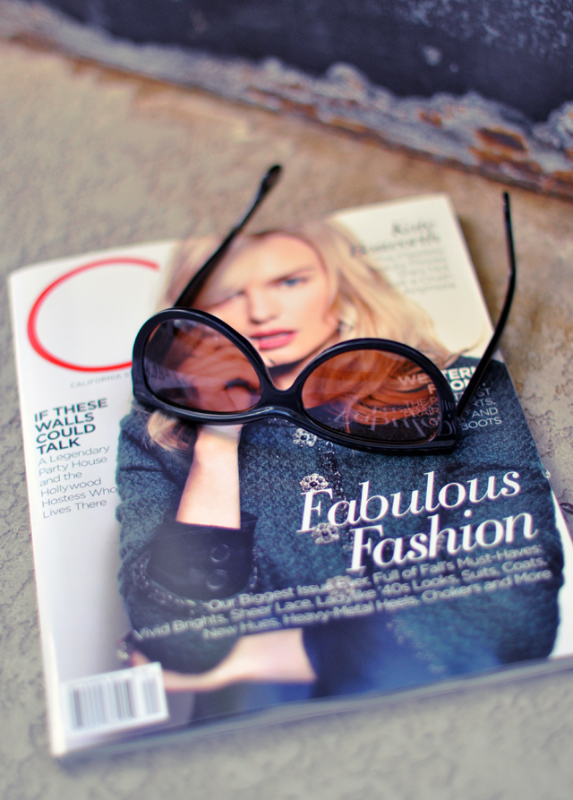 C magazine with Kate Bosworth + sunglasses