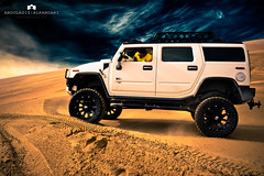 Hummer H2 / Desert (Abdulaziz ALKaNDaRi | Photographer) Tags: car canon photography eos flickr shot desert hq hummer h2 ef 2011 abdulaziz  550d  t2i  alkandari abdulazizalkandari