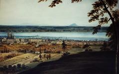 Montréal vers 1830. Panorama depuis le mont Royal.