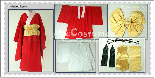 Red Gintama Kagura Cosplay Costume