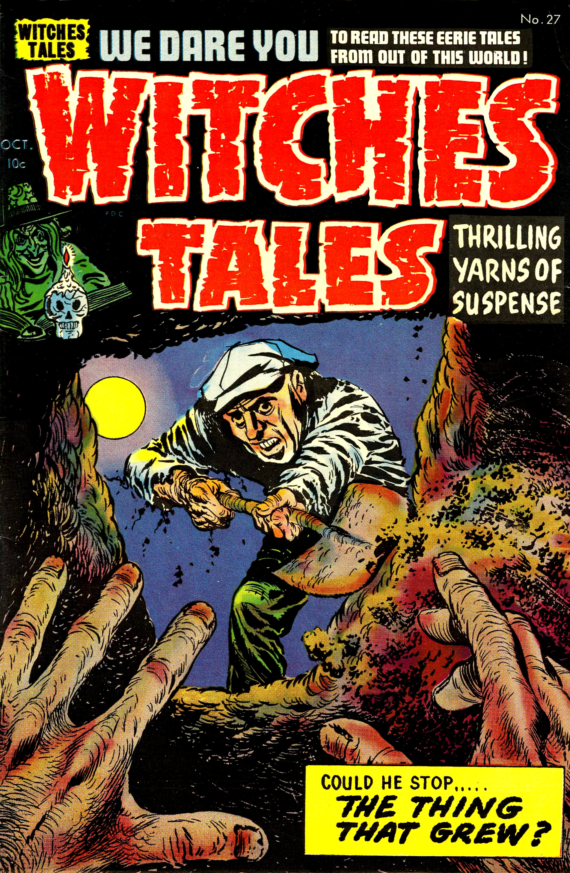 Witches Tales #27, Lee Elias Cover (Harvey, 1954)