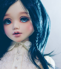 blue (Cyristine) Tags: blue black ball asian eyes doll wig bjd monique msd jointed unoa faceup nomyens