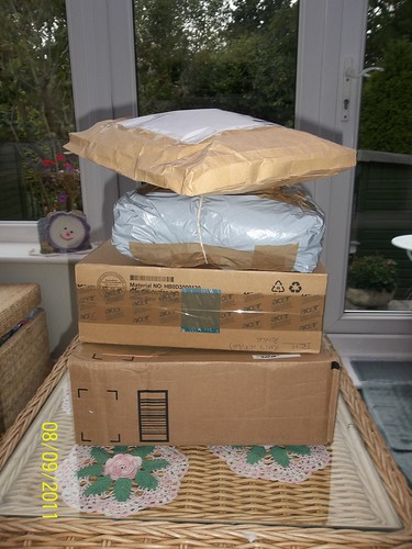 At 7.30 am this morning, these arrived! I had to wait until later on in the day before I could open them.
