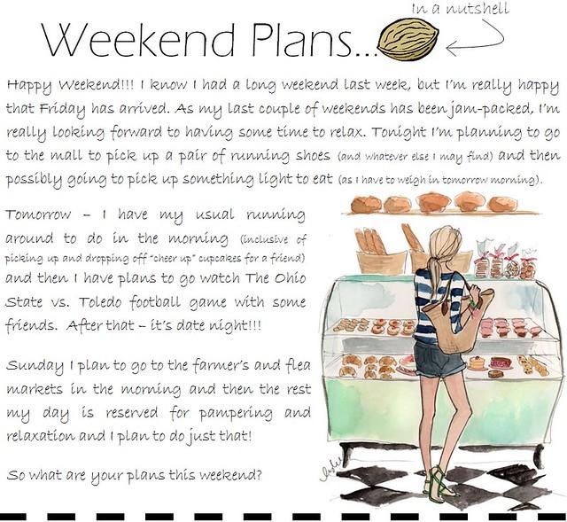 weekend plans 9.9