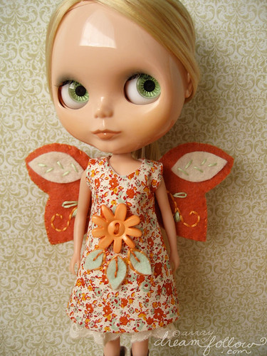orange autumn fairy