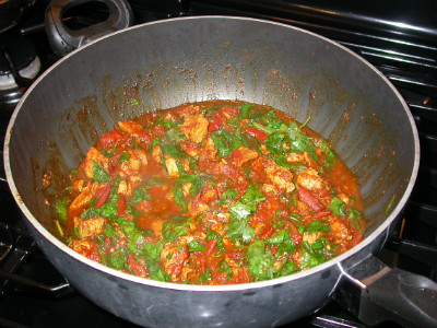 Chicken with Tomato + Spinach