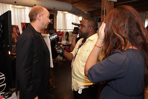 Paul Haggis is interviewed at the IT Lounge