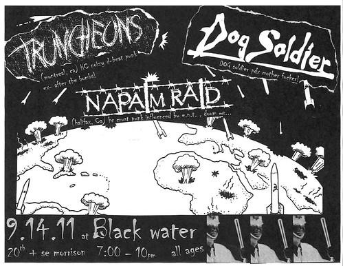 9/14/11 Truncheons/DogSoldier/NapalmRaid