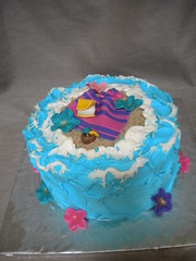 Retirement Cake (www.FlourGirlDesigns.com) Tags: vacation beach cake hawaii sand waves sandals tropical retirement