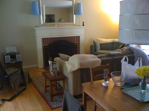 Living room, spring 2009