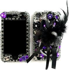 black & purple leather