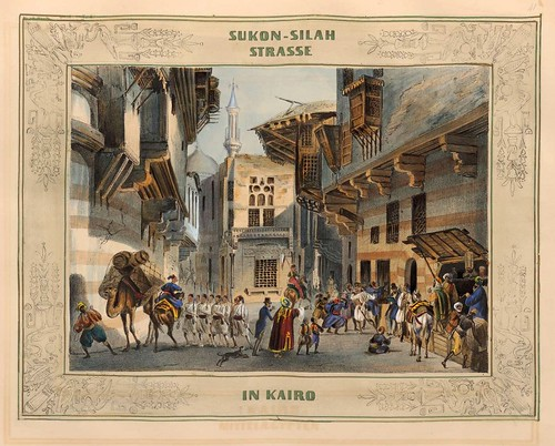 003-Calle de Sukon-silah en el Cairo-Malerische Ansichten aus dem Orient-1839-1840- Heinrich von Mayr-© Bayerische Staatsbibliothek