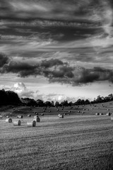 Gloucestershire Bales at sunset II (kennysarmy) Tags: sky sunlight field clouds evening gloucestershire canon50f14 bales bale hdr photomatix canon40d