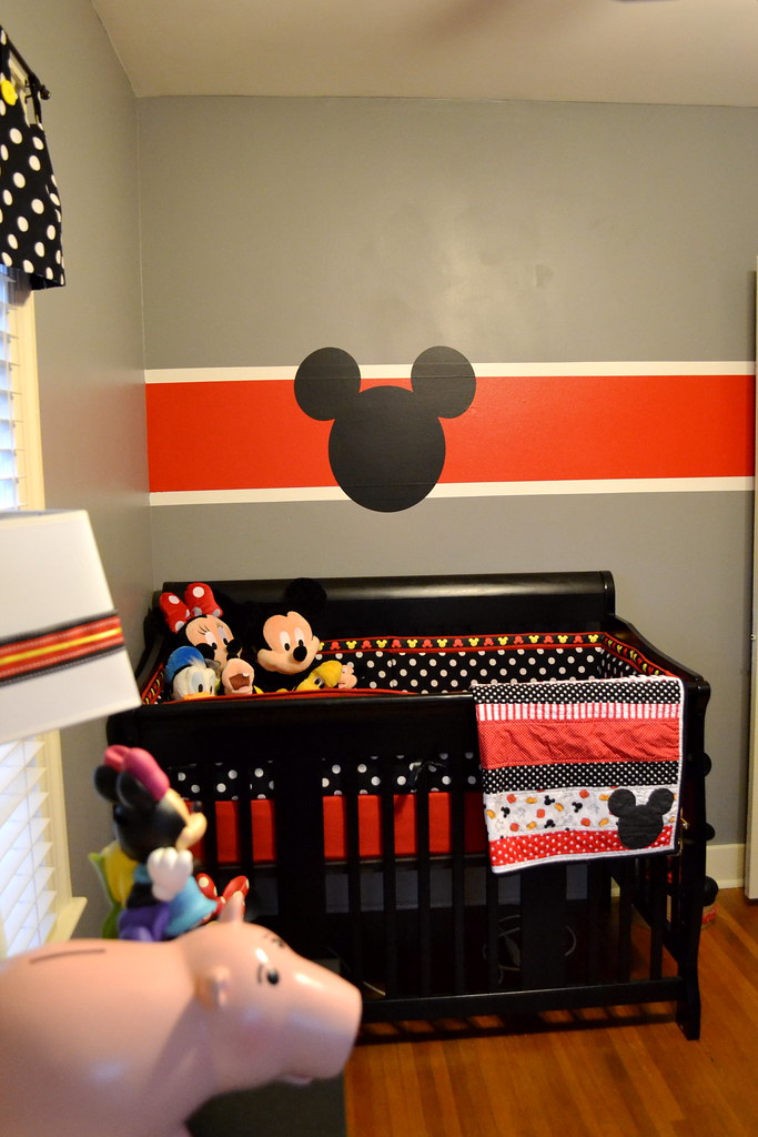 Inspirational Mickey Mouse nursery and a BABY reveal