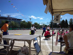 蕨市立二中の体育祭です。ナイスラン!