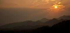 Luang Prabang, Laos (Nomad Boff) Tags: sunset sky sun mountains canon landscape evening southeastasia laos mekong 1000d