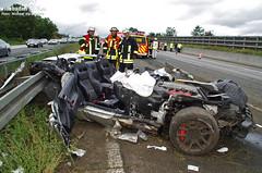 Schwerer Verkehrsunfall A3 Breckenheim 18.09.2011