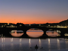 Arno river (Ir. Drager) Tags: bridge sunset italy river geotagged evening florence italia tuscany firenze arno toscana ponteallacarraia