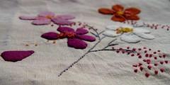 Premier essai de broderie (chabronico) Tags: quilt silk coton quilting patchwork applique soie sauvage appliqué broderie mouliné