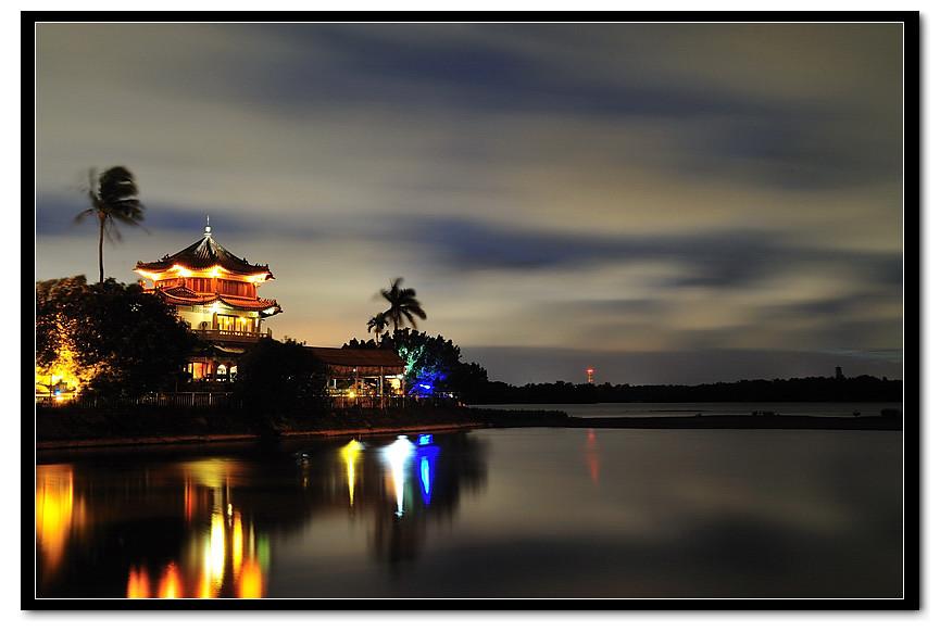 澄清湖 (得月樓) 夜色