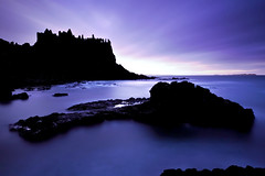 Dunluce Silhouette (alastair.stockman) Tags: longexposure sea irish canon coast northernireland moonlight 5d 1740 giantscauseway causeway countyantrim antrim antrimcoast dunluce irishcastle causewaycoast irishcoast canon1740mm 10stop canon1740f4lusm alastairstockman 5dmarkii 5d2