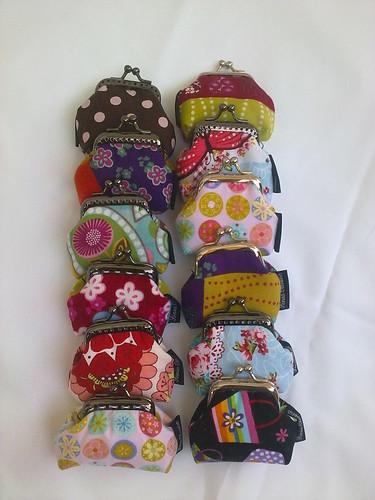 12 mini porta moedas  by ♥Linhas Arrojadas Atelier de costura♥Sonyaxana
