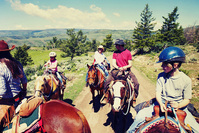 Black Mountain Colorado Dude Ranch group horse ride
