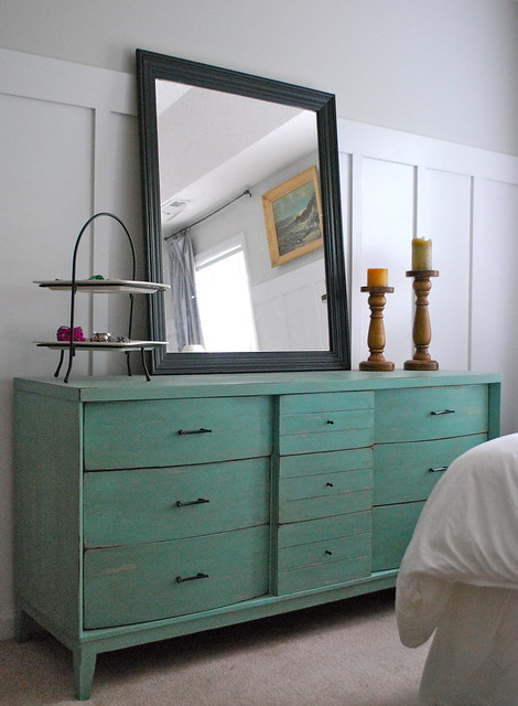 Before And After Turquoise Dresser Pink Amp Polka Dot