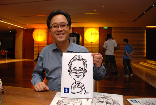 caricature live sketching for Royal Caribbean International Dinner and Dance 2011 - 2