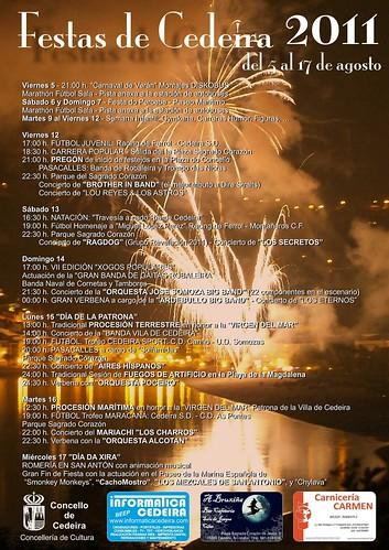 Cedeira 2011 - Festas patronais - programa